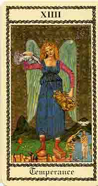 """Temperance"" from the ""Medieval Scapini Tarot"""