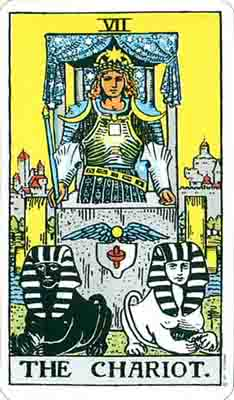 """The Chariot"" from the Rider-Waite-Smith tarot"